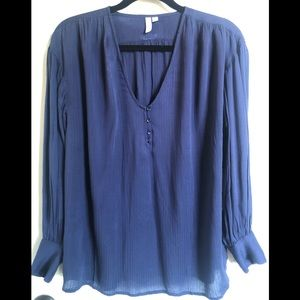 Treasure & Bond Tops - Treasure & Bond V Neck Oversized Blouse
